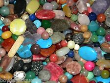 NEW 10/oz Semi-Precious, Gem, Stone 6-25mm Large MIXED LOOSE BEADS LOT(USA)