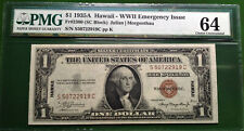 $1 1935A FRN Fr-2300 Hawaii WWII PMG64 Choice Uncirculated
