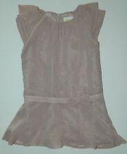 CRAZY 8 girls Rosy GOLD POLKA DOT Ruffled Dress* 4