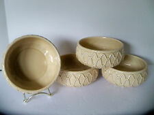 Set of 4 1950's Vintage Bowls Schmid design Folio Beige Rope interlacing Germany