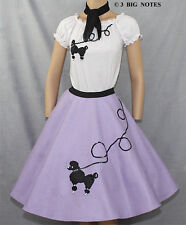 "3-Pc Lavender Poodle Skirt Outfit _ Adult Size SMALL _ Waist 25""- 32"""