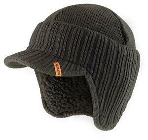 Scruffs Peaked Beanie Hat Warm Winter Insulated Workwear Graphite Grey