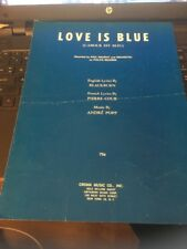 Sheet Music: Love is Blue, Paul Mauriat 1968