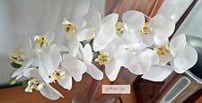 Orchidee Zweig Kunstblume Seidenblumen echt wirkend Kunst Deko Set Dekoration