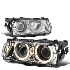 Fit 1999-2001 BMW E38 7-Series LED Halo Ring Projector Driving Headlight/Lamps