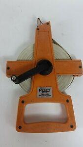 Keson Fiberglass measuring  survey Tape 100 feet, OTR-18-100, excelent shape