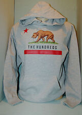 THE HUNDREDS  HOODY SWEATER SIZE  SMALL NWT. GRAY  COLOR [ CALI BEAR ]