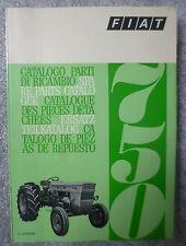 Fiat TRACTOR 750 Parts Catalogue