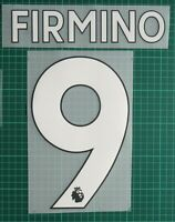 NEW! Liverpool FIRMINO #9 2017-2020 Player Size Premier League White Nameset