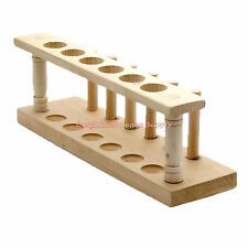 6-Hole,20mm,Pure Wooden Test Tube Rack Holder,Lab Burette Stand Not-Paint