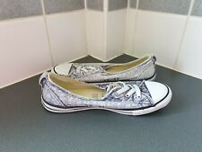 ** WORN ONCE ** LADIES FADED DENIM CONVERSE ALL STAR DAINTY SLIP ON  Size 6