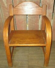 Antique Vintage wood Wooden Child's Bentwood Chair Primitive curved arms Oak
