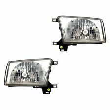 Fits 99-02 Toyota 4Runner Driver + Passenger Side Headlight Lamp Assembly 1 Pair