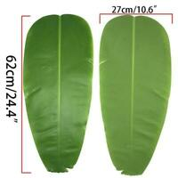 2x Artificial Banana Leaves Large Banana Leaf Tropical Foliage Home Party Decor