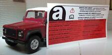 Land Rover Discovery Defensor 90 110 Amianto Etiqueta de Advertencia Insignia