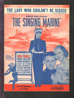 Singing Marine 1937 Lady Who Couldn't Be Kissed DICK POWELL Sheet Music Q20