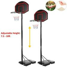 10Ft Outdoor Basketball Hoop System Stand Adjustable Goal Training w/Wheel