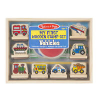 Melissa and Doug My First Wooden Stamp Set - Vehicles - 12391 - NEW!