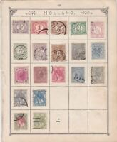 Holland Stamps on Album Page ref R 18979