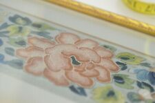 ANTIQUE CHINESE SILK EMBROIDERED PANEL IN FRAME with FORBIDDEN STITCH UU622