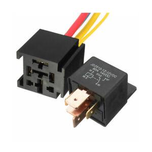 80A 12V DC 5Pin  AMP SPDT Car Relay Socket Automotive Starter Switch Universal