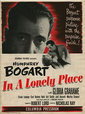 IN A LONELY PLACE (1950) • Humphrey Bogart • Unfolded, complete • FINE+
