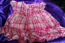 Unbranded Girls' Checked Cotton Blend Dresses (0-24 Months)