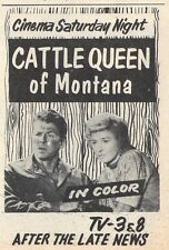 1964 Tv Movie Ad ~ Ronald Reagan/Barbara Stanwyck/Cattle Queen of Montana