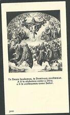 Estampa antigua Santissima Trinidad andachtsbild santino holy card santini