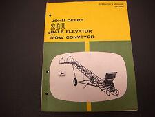 1969 John Deere 200 Bale Elevator and Mow Conveyor Operators Manual OM-C16653 A9
