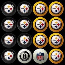 NFL Pittsburgh Steelers Pool Ball Billiards Balls Set w/ FREE Shipping