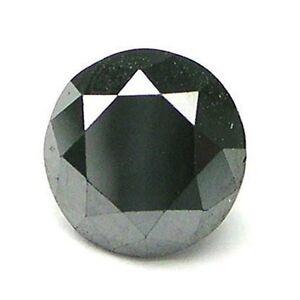 1 STONE 1.3mm CALIBRATED BLACK BRILLIANT ROUND POLISHED DIAMONDS
