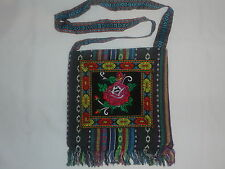 NEW ETHNIC LATIN NATIVE FOLK ART MORRAL CROSS BAG TOTE RASTA INDIAN PURSE MEXICO