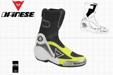 DAINESE AXIAL PRO IN MOTOGP RACE BOOTS BLACK YELLOW US 9 - EU 42 - 275 mm