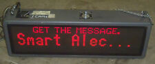 """46"""" Red Display Sign EMC FM128032P03TRI Class A Electronic Message Board"""