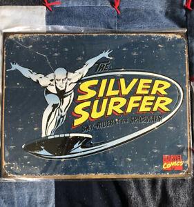 Desperate Enterprises Tin Sign (The Silver Surfer Retro) New W/ Shrink Wrap