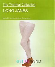 Womens Long Thermal Leggings Long Janes Winter Legging Ladies Cotton Underwear