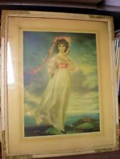"""Thomas Lawrence """"Pinkie"""" vintage print, framed, matted, glass, stunning piece"""