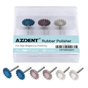 Dental Composite Polishing Diamond System Wheel 14mm RA Disc AZDENT 6pcs/set UK