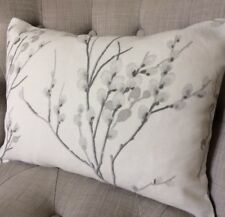 "12x16"" Cushion Cover in Laura Ashley Pussy Willow Steel Off White/Austen"