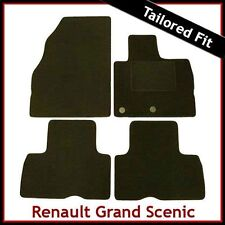 Renault Grand Scenic Mk3 2009 onwards Tailored Fitted Carpet Car Mats BLACK