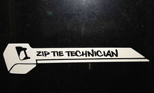 ZIP TIE TECHNICIAN -vinyl window sticker decal funny jdm honda subaru acura euro