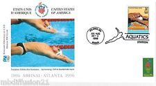 1996**FDC 1°JOUR**COMITE INTERNATIONAL OLYMPIQUE-NATATION-ATLANTA** TIMBRE USA