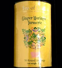 Tea of Life New Age Tea  GINGER MORINGA TURMERIC.  50 Tea Bags