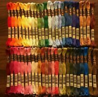 50 Brand New DMC Embroidery Floss Skeins - Rainbow of colors!