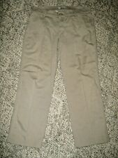 RIDERS BY LEE Khaki Tan Flat Front 4 Pocket Stretch Chino Cropped Pants 12 M