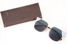 Fendi FF0191/S blue gold enamel logo metal cat eye frame sunglasses NEW $550