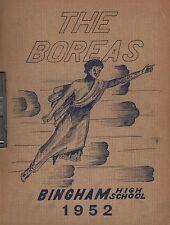 High School Yearbook Bingham Maine Me Bingham High School Boreas 1952