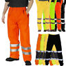 Hi Viz Waterproof Rain Over Trousers High Vis Visibility Mens Safety Work Pants