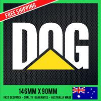 DOG Version CAT STICKER DECAL - CATERPILLAR STICKER Car Ute Truck 4x4 Funny